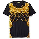 Versace Jeans Men's Gold Chain T-Shirt, Nero, Medium