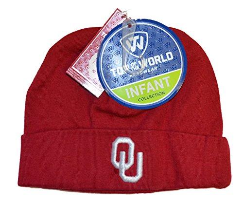 Oklahoma Sooners Newborn Baby Cuff Beanie Hat - NCAA Infant Winter Knit Cap