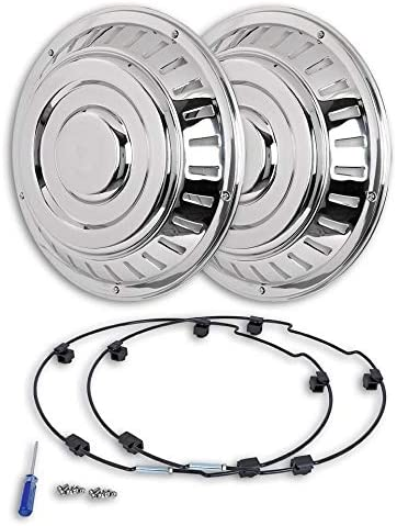 Hansen Styling Parts - Tapacubos de acero inoxidable (2 unidades ...