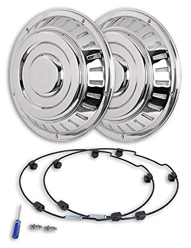 Hansen Styling Parts - Tapacubos de acero inoxidable (2 ...
