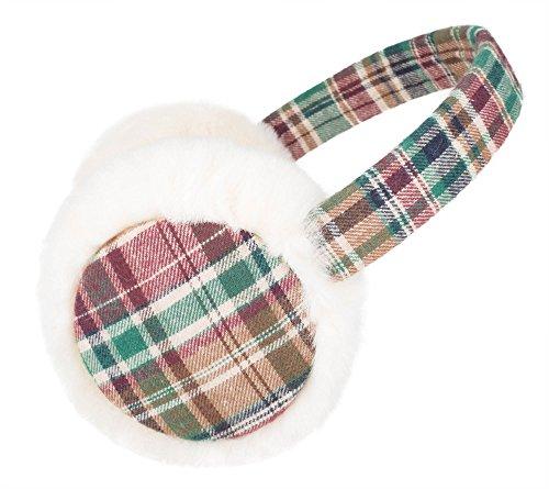 Knolee-Women-Classic-Grid-Faux-Furry-Ear-Warmer-Winter-Outdoor-EarMuffs