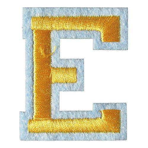 アイロンワッペン アルファベット E 金の商品画像