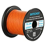 BNTECHGO 26 Gauge Silicone Wire Spool Orange 250 Feet Ultra Flexible High Temp 200 deg C 600V 26 AWG Silicone Rubber Wire 30 Strands of Tinned Copper Wire Stranded Wire for Model Low Impedance