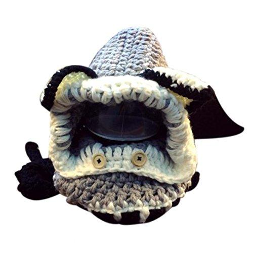 Datework Winter Wool Knitted Fox Hats Baby Girls Shawls Hood