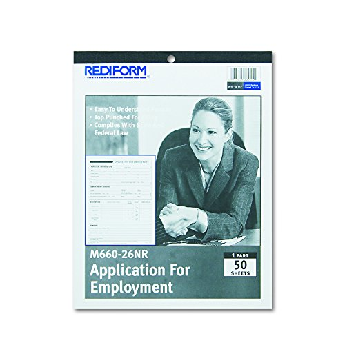 Employment Application Form - Rediform M66026NR Employment Application, 8 1/2 x 11, 50 Forms