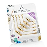 BEADNOVA 4pcs Necklace Extender Chains Set Jewelry Extenders (Multi Size)