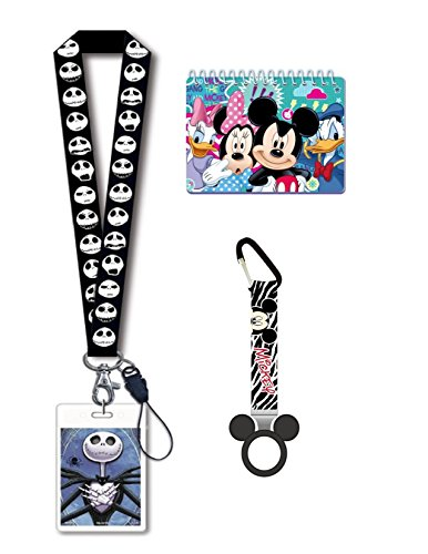 Disney Trip Bundle- Disney Jack Skellington Lanyard, Mickey