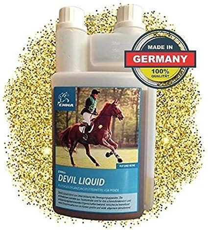 ⭐ EMMA alimen♥ EMMA tos para caballos Uña de diablo para los caballos Líquido alimentación complementaria para las articulaciones I para la movilidad y el cuidado 1 litro