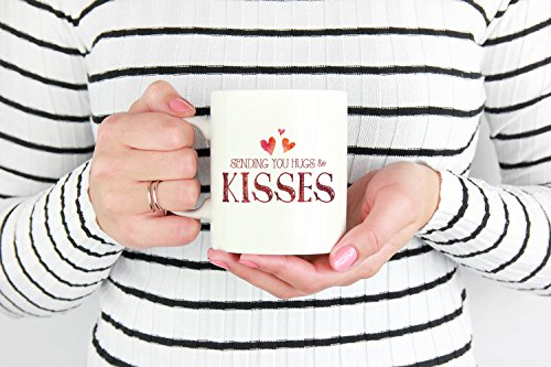 Hugs and Kisses mug heart mug love mug couples mug girlfriend gift valentines mug gift for best friend sending you hugs and kisses mug, 11oz, 15oz, gift