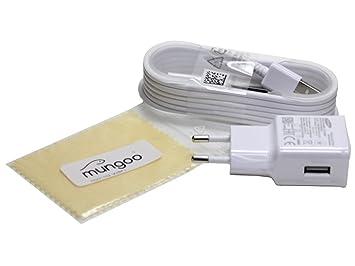 Original Samsung 2 A cargador USB Cable de carga de datos para Samsung SM-G350 Galaxy Core Plus + Gratis mungoo® Pantalla paño de limpieza