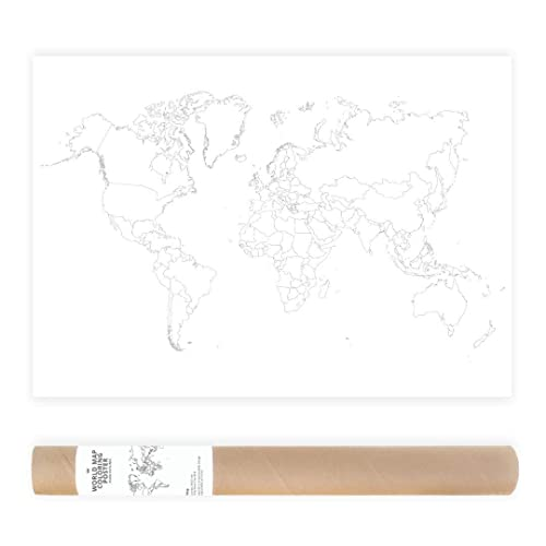 50x70cm Blanche Coloriage Geant Carte Du Monde Couleur Carte De Voyage Couleur Poster A Colorier Amazon Fr Handmade