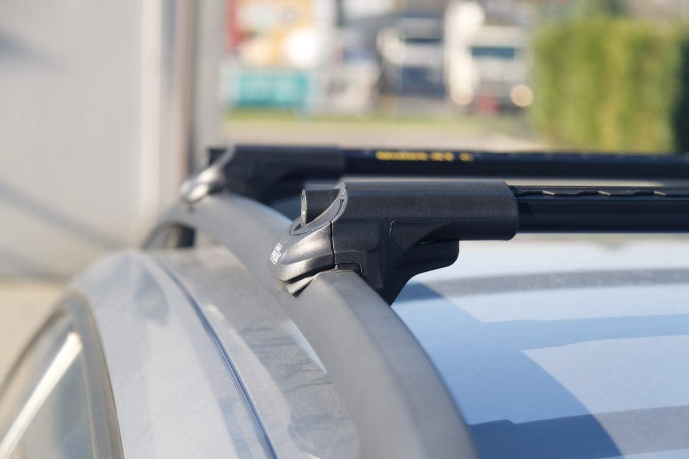 IP Aerodynamische Aluminium Dachtr/äger traditionelle Dachrelinge Schwarz