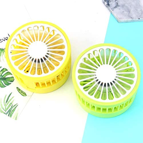 Zxcvlina Portable Personal USB Fan Portable Powered Small Desk Fan USB Rechargable Portable Table Fan with 1800mAh Battery /& A USB Cable Color : Green, Size : Free Size