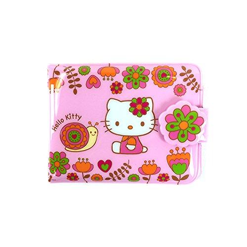 Sanrio Hello Kitty Vinyl Wallet Card Coin Case Pouch : Kitty Snail Collection