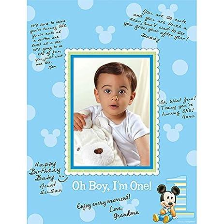 Amazon.com: Mickey\'s 1st Birthday Autograph Photo Matte: Kitchen ...
