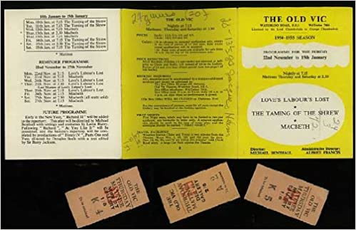 The Old Vic Theater Season Playbill Program Macbeth Loves - Playbill program