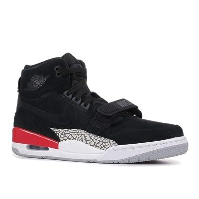 Nike AIR Jordan Legacy 312 Mens Fashion-Sneakers AV3922 (11, Black/Black/Fire Red) | Basketball