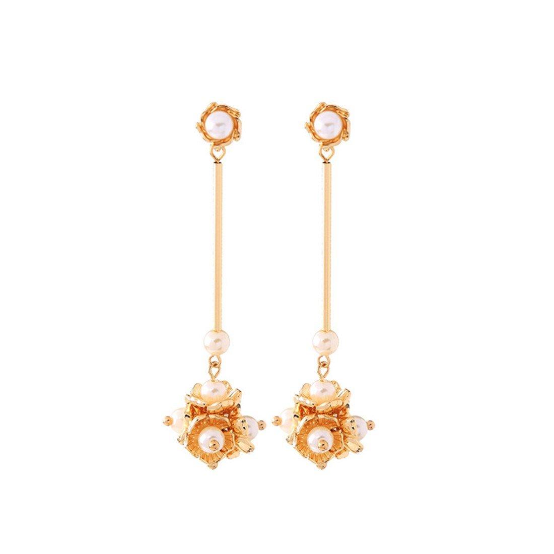 handmade earrings long gowns pearl ball earrings|clip on earrings|ear cuffs|dangle earrings|earring jackets|hoop earrings|stud earrings|European and American flowers