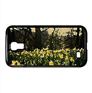Daffodils Field Watercolor style Cover Samsung Galaxy S4 I9500 Case (Flowers Watercolor style Cover Samsung Galaxy S4 I9500 Case)