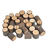 JINMURY Wedding Place Wooden Card Holders Rustic Wood Table Number Stands for Home Decor Wedding Party Table Decorations, 30 Pack.