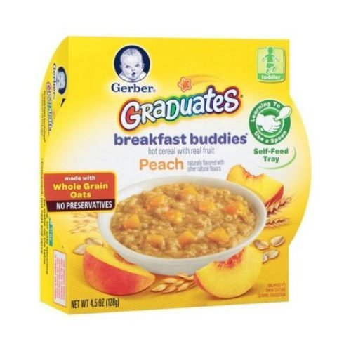 Graduates Breakfast Buddies Peach Hot Cereal with Real Fruit, 4.5 Ounce -- 8 per case.