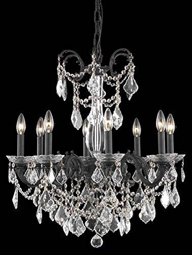 8-Light Traditional Chandelier (Swarovski Strass Crystals) ()