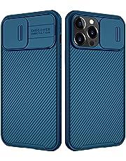 جراب نحيف من نيلكين كامشيلد برو متوافق مع آيفون 13 برو، غطاء حماية لـ 13 برو مع واقي كاميرا صلب من البولي كربونات و حافظة هاتف من البولي يوريثان اللدن بالحرارة لهاتف 13 برو 6.1 بوصة أزرق