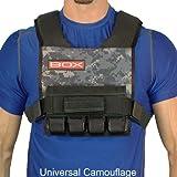 20 Lb. BOX Super Short - Crossfit Weight Vest (Uni Cam)