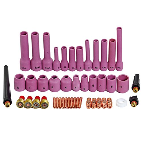 TIG Gas Lens Collet Body Assorted Size Kit Fit SR WP 9 20 25 TIG Welding Torch 46pcs