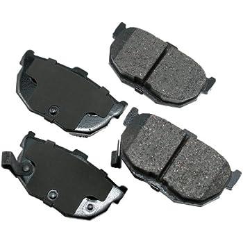 Disc Brake Pad Set-ProACT Ultra Premium Ceramic Pads Rear Akebono ACT1354