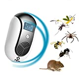 PIGWO Ultrasonic Pest Repeller& mosquito Repellent - Electromagnetic Pest Control Plug For Indoor/Outdoor Use – Silent Safe & Effective for insects, Rats, Squirrel, Flea, Roaches, Mice.[2018 Upgraded]