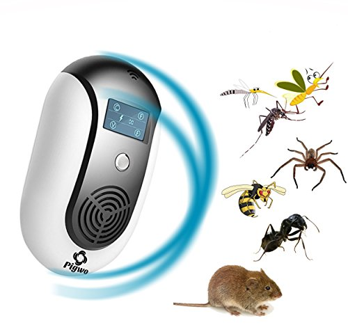PIGWO Ultrasonic Pest Repeller& mosquito Repellent - Electromagnetic Pest Control Plug For Indoor/Outdoor Use – Silent Safe & Effective for insects, Rats, Squirrel, Flea, Roaches, Mice.[2018 Upgraded] by PIGWO