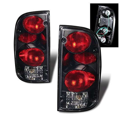 SPPC Dark Smoke Euro Tail Lights Assembly Set for Toyota Tacoma - (Pair) Includes Driver Left and Passenger Right Side Replacement