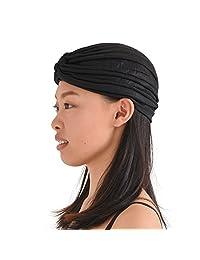 CHARM Casualbox Metallic Twist Turban Hat Headwrap Festival Boho Fashion Chemo