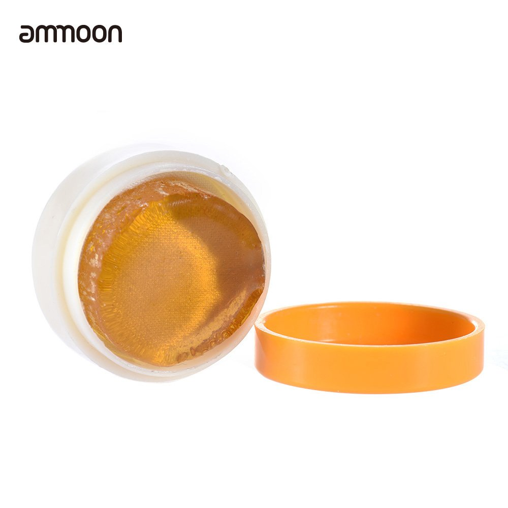 ammoon 3PCS Transparent Orange Natural Rosin Cylindrical for Violin Viola Cello Light and Low Dust Bow Rosin