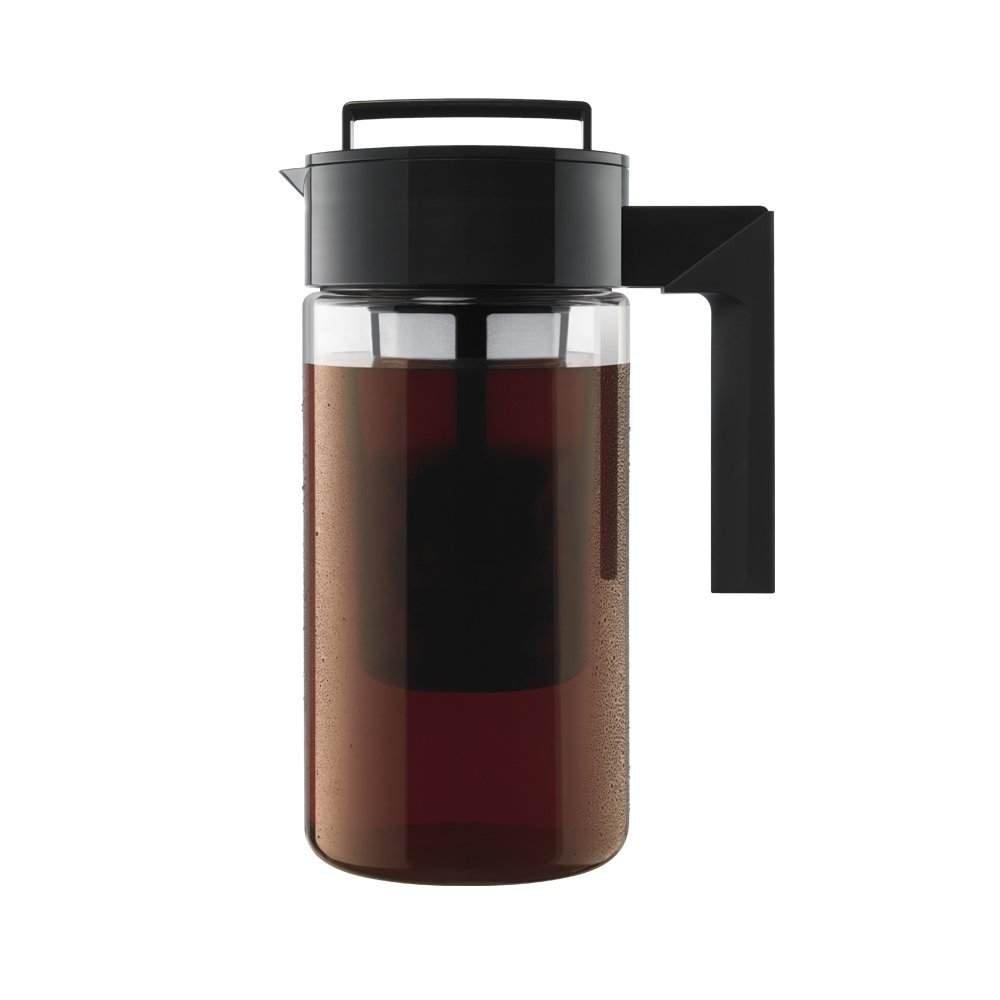 Takeya Cold Brew Iced Coffee Maker, 1-Quart, Black - 2 Pack