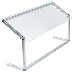 Carlisle 924807 Acrylic Adjustable Single-Sided Sneeze Guard with Aluminum Frame, 48-1/4 x 12.44