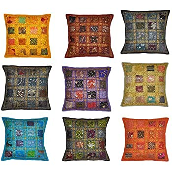 Amazoncom Indian Traditional Handmade Decorative Cushion Covers