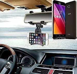 Sostenedor del montaje espejo retrovisor para Asus ZenFone Max, negro | Escuadra de coches - K-S-Trade (TM)