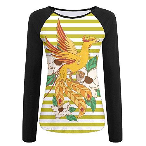 Women's Phoenix In Lotuses T-Shirt,Long Sleeve Tee For - Shops Phoenix Airport In