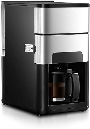 WCJ Oficina en casa cafetera Molinillo de café automática, programable de Acero Inoxidable, Funcionamiento silencioso, Ajuste Anti-Goteo, cafetera y el Filtro: Amazon.es: Hogar