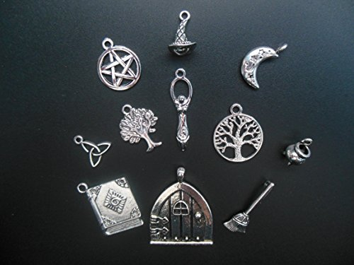 Pagan Charms 2168s Silver Zinc Alloy Witch Wiccan Pentagram
