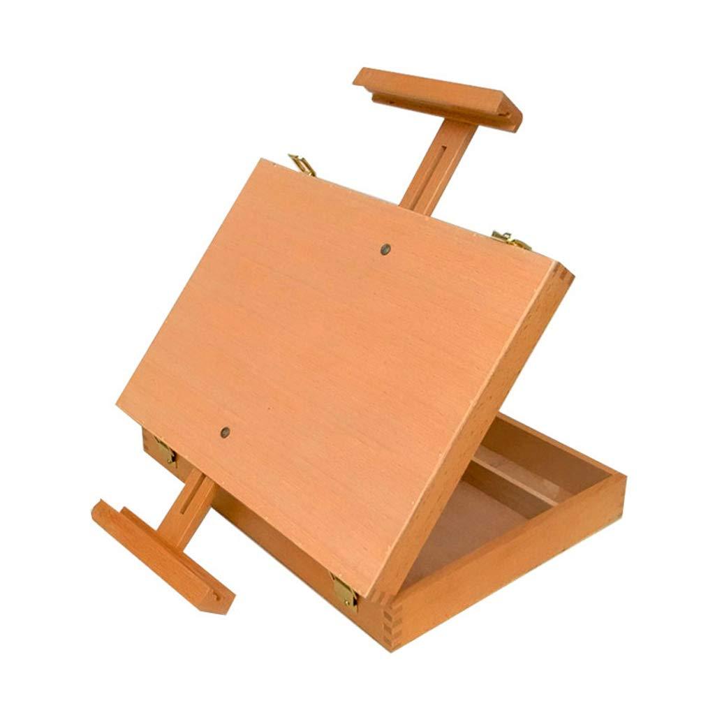 Djyyh デスクトップイーゼルスケッチ絵画イーゼル油絵ボックス木製ストレージボックス油絵ボックス   B07SD9TTM6