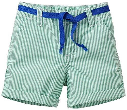 Carter's Little Girls' Woven Striped Shorts (Kids) - Green - 5