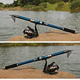 Portable 2.1M 6.89Ft Telescopic Fishing Rod Travel Spinning Fishing Pole Professional Fishing Tackle^.