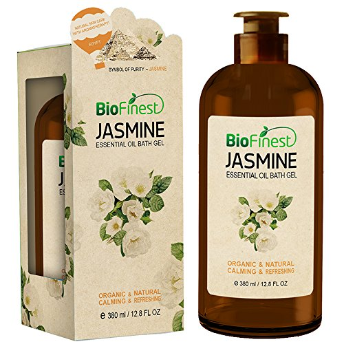 Biofinest Jasmine Essential Oil Shower Gel - Aromatherapy Luxury Spa Gift Set - Natural Fragrance Body Wash - Organic Moisturizing Bubble Bath - Paraben Sulfate Free - For Dry Skin Acne Women Men Kids