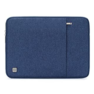"""NIDOO 14 Inch Laptop Sleeve Water-Resistant Computer Case Portable Carrying Bag for 14"""" Notebook / 14"""" Lenovo ThinkPad X1 Carbon/Yoga 920 14"""" / 13.5"""" Microsoft Surface Book, Blue"""