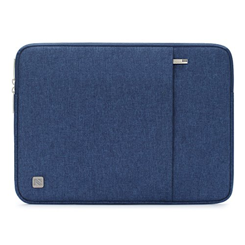 NIDOO 11 Inch Laptop Sleeve Case Water Resistant Carrying Bag Portable Protective Cover for 13 Macbook Pro Touch Bar/DELL XPS 13/2017 New 12 MacBook/12.3 Microsoft Surface Pro/11.6 Notebook, Blue