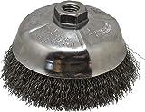 Weiler - 5'' Diam, 5/8-11 Threaded Arbor, Crimped Steel Cup Brush - 0.014'' Filament Diam, 8,000 Max RPM (5 Pack)