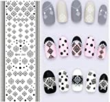 1 Pack Colorful Purple Fantacy Flowers Nail Art Sticker Foil Water Transfer Nails Wrap Paint Tattoos Stamp Plates Templates Tools Tips Kits Dazzling Popular Xmas Stick Tool Vinyls Decals Kit, Type-09